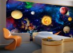 Pokój dziecka, fototapeta kosmos